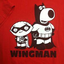 Family Guy T Shirt Wingman batman Robin Size L TV Show Cartoon Stewie EUC