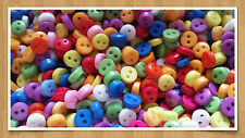 MIX OF 100 COLOURFUL ACRYLIC 2-Hole BUTTONS-5mm-Card-making/sewing