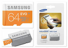 Carte Micro SD SDXC Samsung : Evo Ultra Performance 64 GB