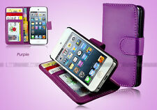NEW Premium Leather Stand Wallet Flip Case Cover For iPod Touch 5 & Touch 6