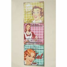 60ties Retro Wandbilder Set 3-tlg EAT DINER BAKERY