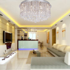 Crazy Promo Ceiling Lights Crystal Chandeliers Flush Mount 15 Lights Round UK