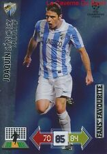 U66 JOAQUIN SANCHEZ MALAGA CF FAN'S CARD CHAMPIONS LEAGUE ADRENALYN 2013 PANINI