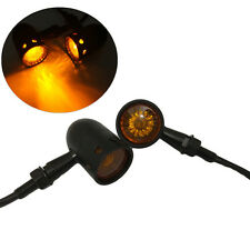 Amber LED Grille Lens 3 Wires Stop Brake Turn Signal Indicator Lights Motorcycle