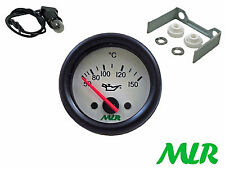 52MM OIL TEMPERATURE GAUGE ELECTRIC WHITE FACE TEMP TRACK RACE CAR MLR.AZE