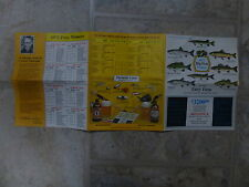 Old Pamphlet - 1973 Big Fish Contest, Ontario - Good Condition