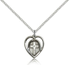 """.925 Sterling Silver Cross Necklace For Women On 18"""" Chain - 30 Day Money Bac..."""