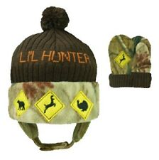 HOT SHOT LIL HUNTER REALTREE CAMO CAMOUFLAGE BOYS INFANT TODDLER HAT & MITTENS