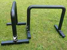 Metal Rhino Parallettes - Professional UK Made Grippy Powder Coating Bars