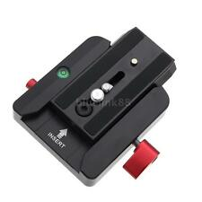 Black 577 Rapid Connect Adapter Clamp + QR Plate 501PL for Manfrotto Tripod Head