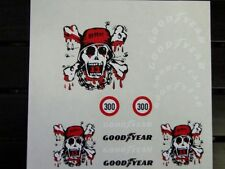 Repent Skull decal set 1/8 1/10 Scale RC  Car truck crawler buggy stickers