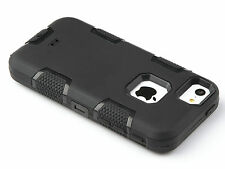 PREMIUM BLACK SHOCKPROOF HYBRID PROTECTION HARD BACK CASE COVER FOR IPHONE 4 4S