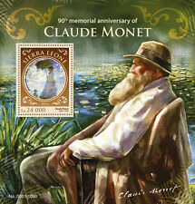 Sierra Leone 2016 MNH Claude Monet 1v S/S Woman with Parasol Paintings Stamps