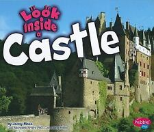 Look Inside a Castle, Moss, Jenny, Good Condition, Book
