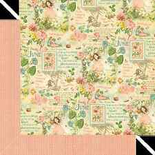 Graphic45 JUNE MONTAGE 12x12 Dbl-Sided Scrapbook (2) Papers VINTAGE