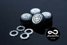 """Factory81 RM012 1/24 15"""" Mugen CF-48 set (4 Wheels with Tyres)"""
