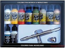 AV Vallejo Model Air Set 10 Basic Colours & Harder & Steenbeck Ultra Airbrush