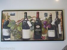 Wine Lovers Wall Decor Plaque kitchen sign Italian French grapes picture