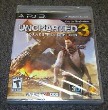 Uncharted 3: Drake's Deception PlayStation 3 PS3 Game NEW SEALED