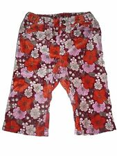 H & M tolle Hose Gr. 80 rot-orange mit Blumenmotiven !!