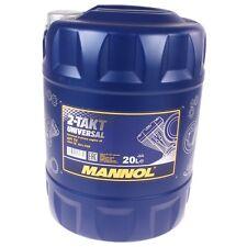 20 Liter Mannol 2-Takt Universal Motoröl API TC JASO FB Motorrad Öl  Mofa Roller