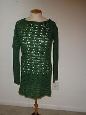 MISS SIXTY 60 GREEN LONG SLEEVE KNIT WOOL BLEND PULLOVER SWEATER SIZE M