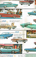 1961 OLDSMOBILE Brochure:F-85,SUPER 88,98,HOLIDAY,....