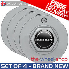 4 x Borbet Hex Caps and Bolt Kit for Borbet A Alloy Wheels