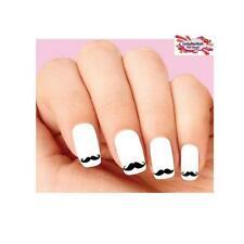 Waterslide Nail Decals Set of 20 - Mustache Assorted