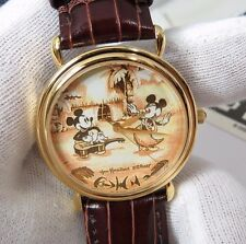 "MICKEY&MINNIE MOUSE,Disney Time Works,Ultra Rare! ""Hula Dance""Unisex WATCH,R18-3"