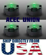 4 X High Quality MG 1/100 QANT Raiser Gundam GREEN LED Lights - U.S.A. SELLER