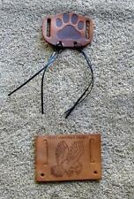 Vintage Boy Scout -Two (2) Leather Scout Web Belt Attachments - Heart of America