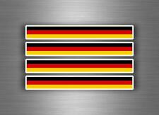 4x sticker decal car stripe motorcycle racing flag bike tuning germany german