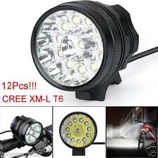 30000LM 11x CREE XM-L T6 LED 6x 18650 Stirnlampen Fahrrad Cycling HOT lampen