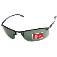 Ray Ban RB3183 006/71 Active Lifestyle Top Bar Sunglasses Matte Black/Grey-Green