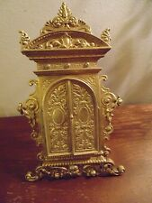 ANTIQUES BRONZE FRAME EXQUISITELY WROUGHT IN SHAPE OF PORTAL WITH DOUBLE HINGED