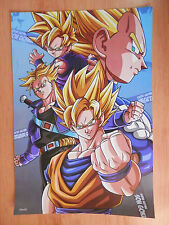 DRAGON BALL POSTER GOKU VEGETA TRUNKS GOHAN  42x29 CM NEW C