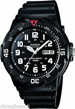Casio Para Hombre Mrw200h-1bv Black Resin banda Dive Watch Sport Analog Bisel Giratorio