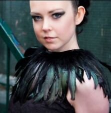 Black Feather Necklace Cape Collar Halloween