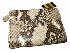 Rugby Ralph Lauren Polo Python Snake Skin Leather Wallet Clutch Change Purse
