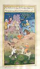 Indo Miniature Painting Illuminated Manuscript Hollywood Movies_AR405