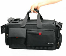 new black VCR Video Camera Bag Shoulder Case for Nikon Canon Sony Large volume X