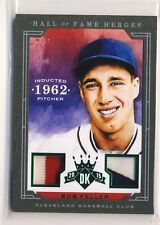 BOB FELLER 2015 Diamond Kings Hall of Fame Heroes DUAL JERSEY PATCH /5 INDIANS
