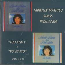 """Mireille Mathieu (2in1) Sings Paul Anka """"You and I"""" + """"Toi et Moi""""  CD"""