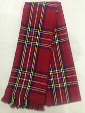 Red Tartan Check Plaid Fashion Winter Royal Stewart Scarf - A Wardrobe Essential
