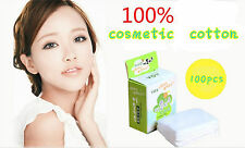 100pcs Pure Cotton Puff Makeup Sponge Cleaning Pads Face Facial Cosmetic Tools