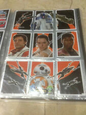 STAR WARS Force Awakens - Force Attax Trading Card #143 to 151 Puzzle Set