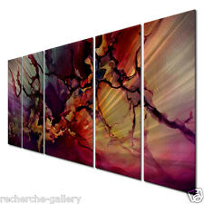 Metal Wall Painting - Unique Artwork - Abstract Modern Wall Sculpture 'Moody'