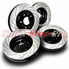 FOR044S Mustang GT 4.6L 05-10 Performance Brake Rotors SET Drill + Curve Slot