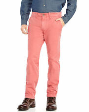 Men's TRUE RELIGION red washed utility chino pants size 44 x 32 fits like 46